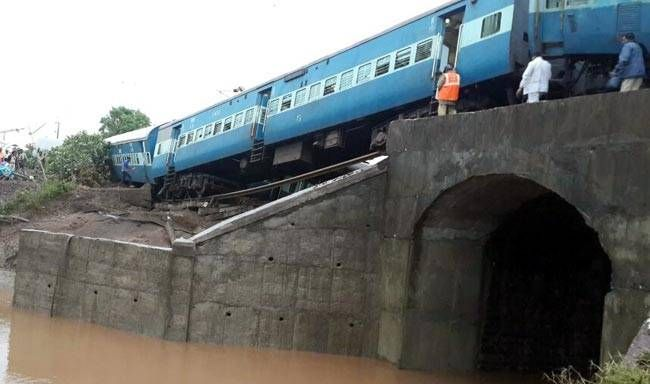 Twin train derailments in Madhya Pradesh