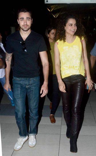 Imran Khan and Kangana Ranaut at Mumbai airport