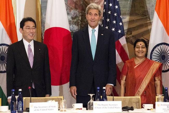 India, Japan and USA trilateral meeting