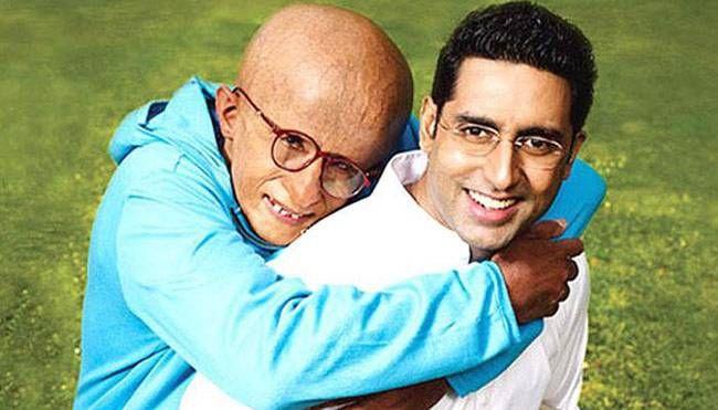Amitabh Bachchan and Abishek Bachchan in a still from Paa