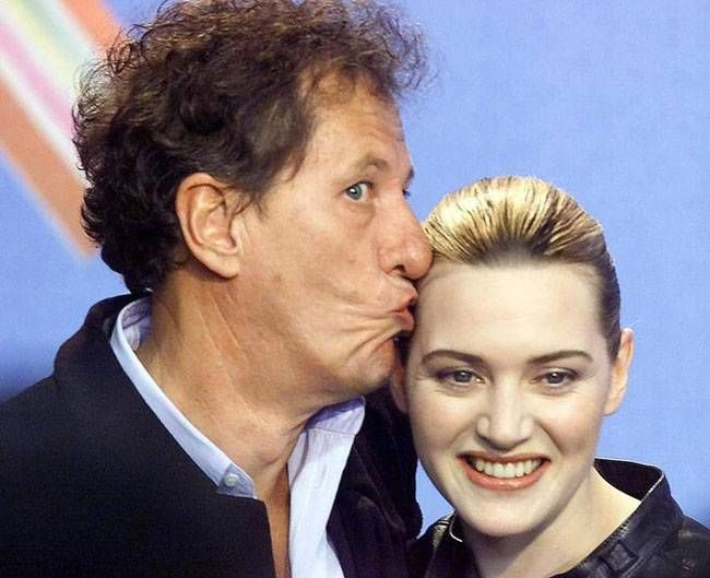 Geoffrey Rush and Kate Winslet