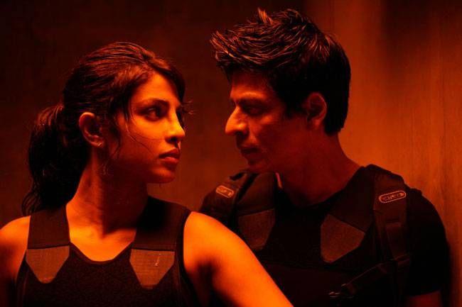 Priyanka Chopra and Shah Rukh Khan