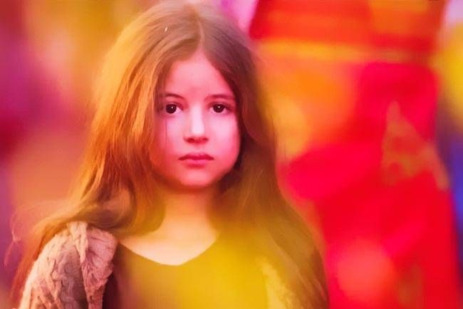 Harshaali Malhotra in a still from Bajrangi Bhaijaan