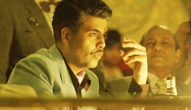 Karan Johar in a still from Bombay Velvet