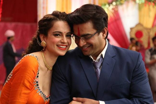 Kangana Ranaut and R Madhavan in a still from Tanu Weds Manu Returns