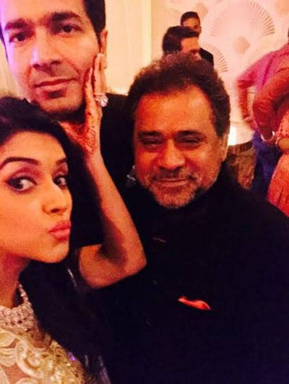 (L-R) Asin, Rahul Sharma and Anees Bazmee