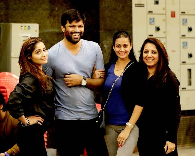 Aarti Singh, Anand Mishra, Jaswir Kaur and Munisha Khatwani at the BCL practice match.