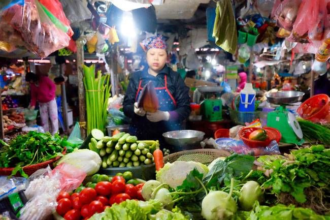 Vegetable seller, Hanoi
