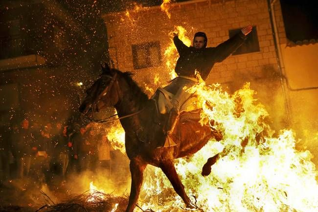 Saint Anthony's Day,Luminarias,Spain,San Bartolome de Pinares