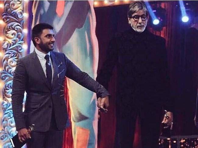 Ranveer Singh and Amitabh Bachchan at Screen Awards