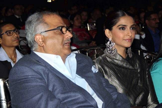 Boney Kapoor and Sonam Kapoor
