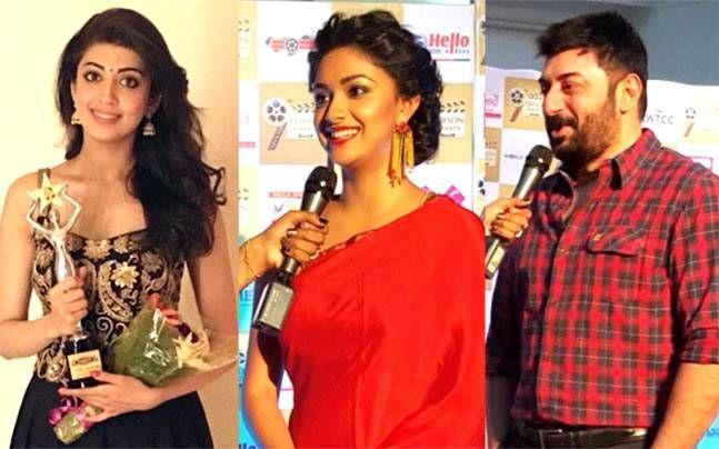Arvind Swamy, Pranitha Subahsh, Keerthy Suresh at Edsion Awards