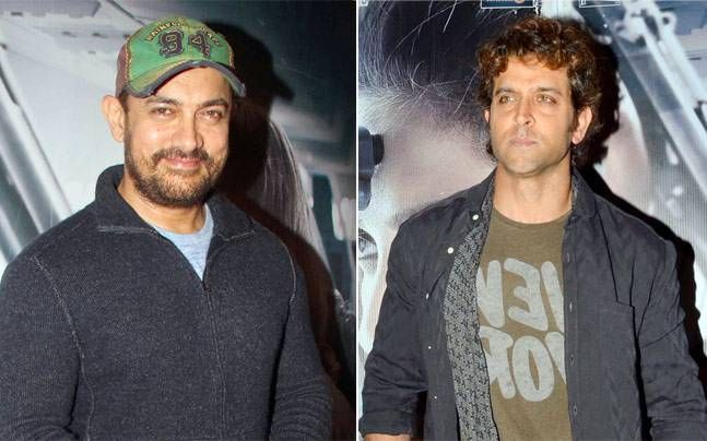Aamir Khan and Hrithik Roshan at Neerja screening