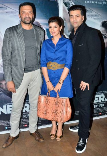 Atul Kasbekar, Twinkle Khanna and Karan Johar at Neerja screening