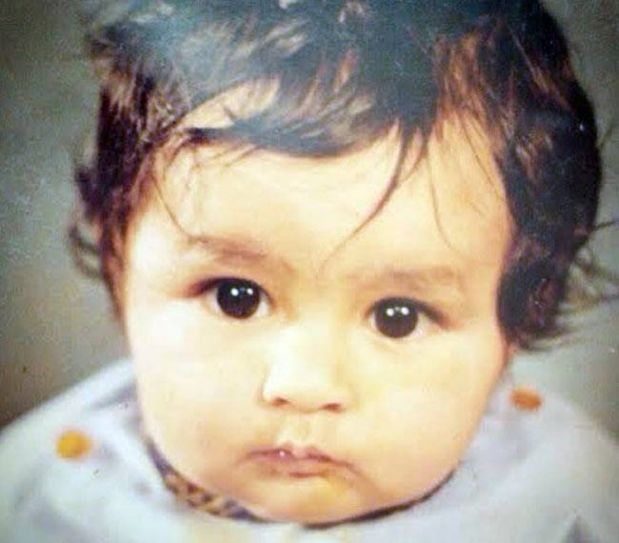 We bet, you won't be able to guess who she is. This cute golu molu baby is Mrunal Thakur, the Bulbul of Kumkum Bhagya.