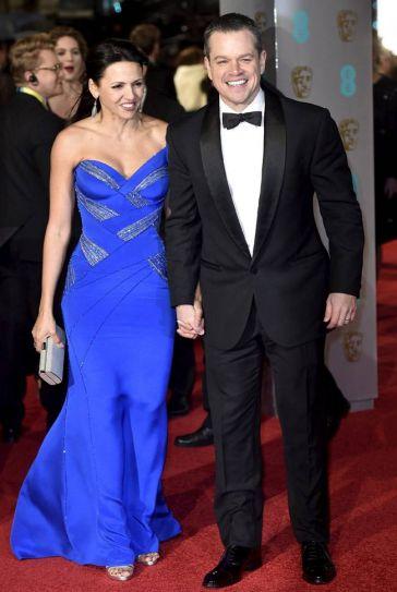 Luciana Barroso and Matt Damon at BAFTA Awards