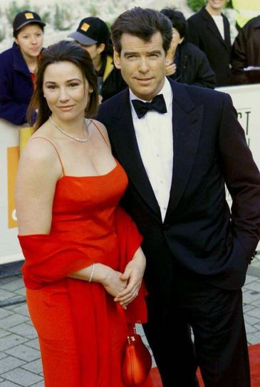 Kelley Shaye-Smith and Pierce Brosnan