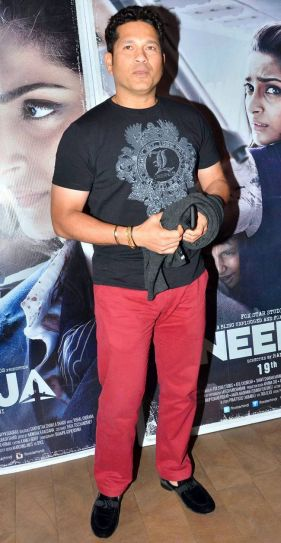 Sachin Tendulkar at Neerja screening