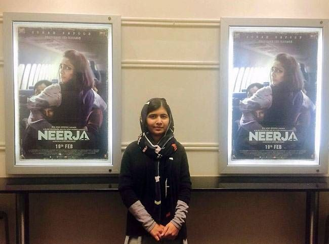 Malala Yousafzai at the screening of Neerja
