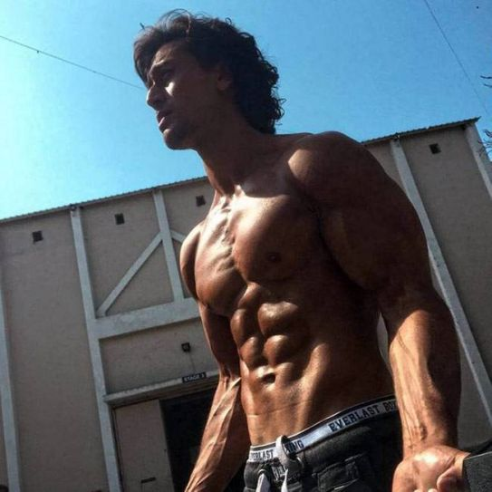 Tiger Shroff on the sets of Baaghi