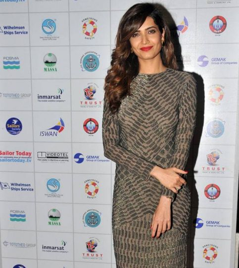 Karishma Tanna looks gorgeous in a figure-hugging sequined gown.