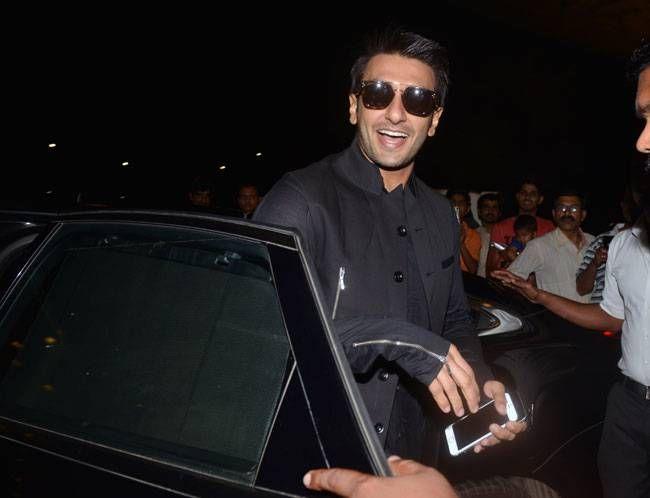 Ranveer Singh at the Mumbai Airport