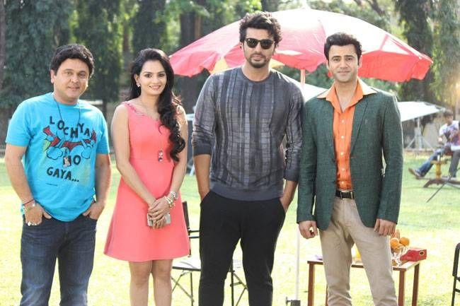 Ali Asgar, Krishna Gokani, Arjun Kapoor and Ather Habib on the sets of SAB TV's Woh Teri Bhabhi Hai Pagle.