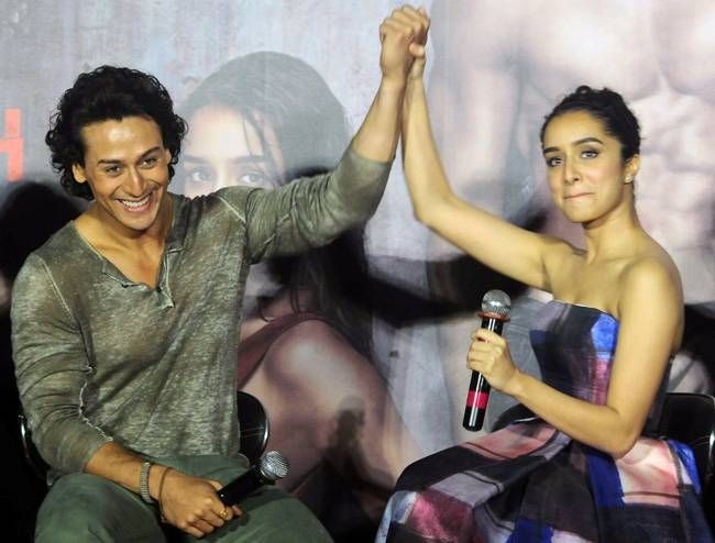 Tiger Shroff and Shraddha Kapoor at the Baaghi trailer launch