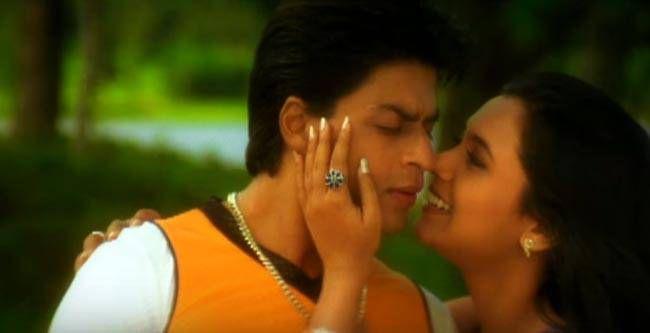 Shah Rukh Khan and Rani Mukerji in a still from Kuch Kuch Hota Hai