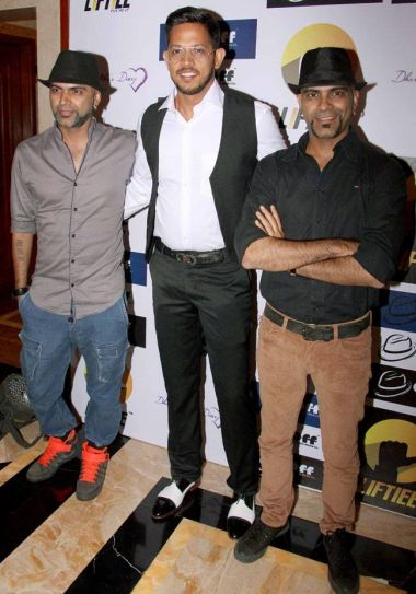 MTV Roadies' Raghu Ram and Rajiv Raxman were also spotted at the app launch.