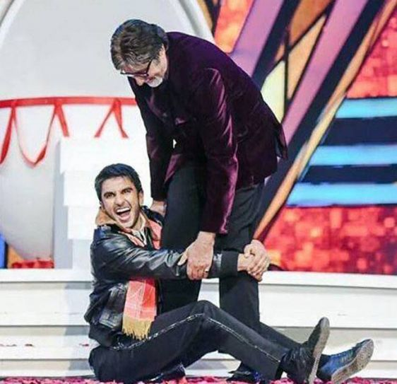 Ranveer Singh and Amitabh Bachchan at TOIFA