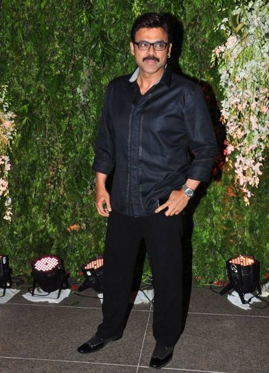 Venkatesh at Srija's wedding reception