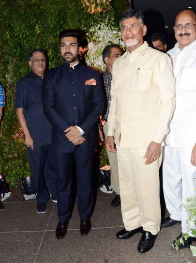 Chandrababu Naidu at Srija's wedding reception