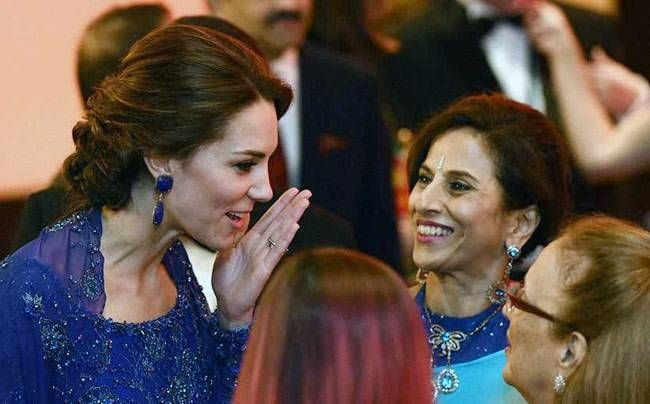 Kate Middleton interacting with the creme de la creme of Mumbai's starry populace.