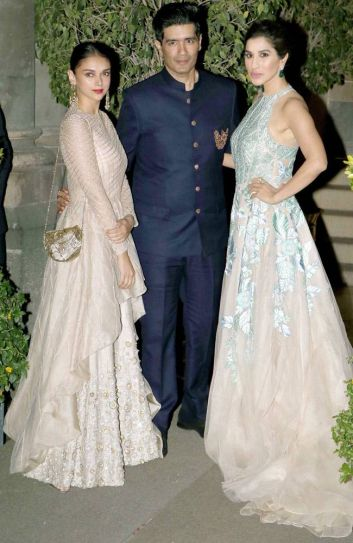 Aditi Rao Hydari, Manish Malhotra and Sophie Choudry at the Royal Gala Dinner