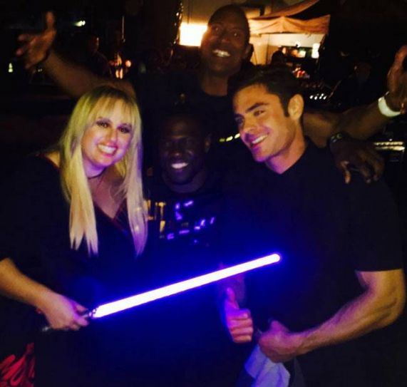 Rebel Wilson, Dwayne Johnson, Kevin Hart and Zac Efron
