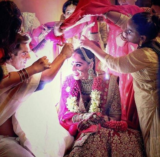 Bipasha Basu and Karan Singh Grover at their wedding