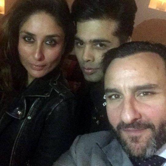 Kareena Kapoor Khan and Saif Ali Khan at Karan Johar's birthday bash