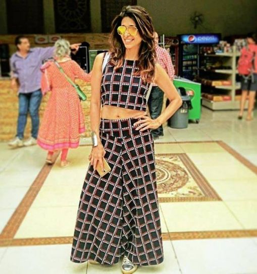 Raising temperatures in Jordan; here's another pose by Bigg Boss 9 hottie Kishwer Merchantt.