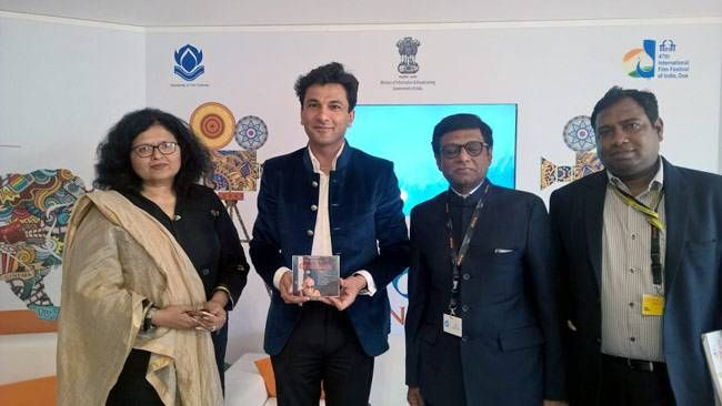Vikas Khanna's documentary, Kitchens of Gratitud, officially unveiled by Dr. Mohan Kumar, the Indian Ambassador to France, Leena Jaiswani, FICCI and Jitendra Mishra.
