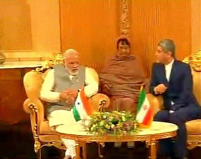 Prime Minister Narendra Modi, Dr. Ali Tayebnia, Iran's Minister of Economic Affairs and Finance