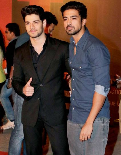 Sooraj Pancholi and Saqib Saleem at Sarbjit premiere