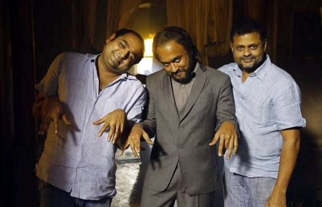 Suriya, Vikram Kumar and Tirru at the sets of 24