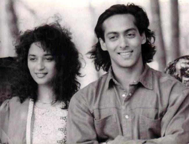Madhuri Dixit and Salman Khan