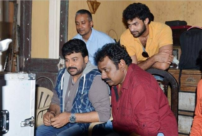 Chiranjeevi, VV Vinayak on the sets of Chiru 150