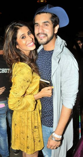 Suyyash and Kishwer were inseparable at the event.