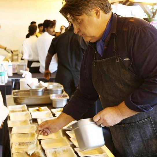 Matt Preston plates up his perfect dish at the food fest last weekend in Bangalore.