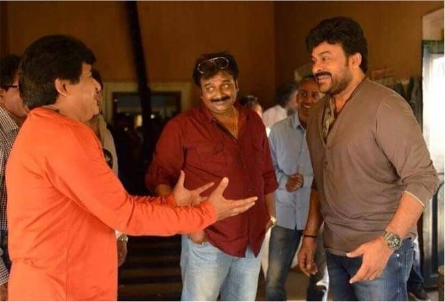 Chiranjeevi, Comedian Ali on the sets of Chiru 150
