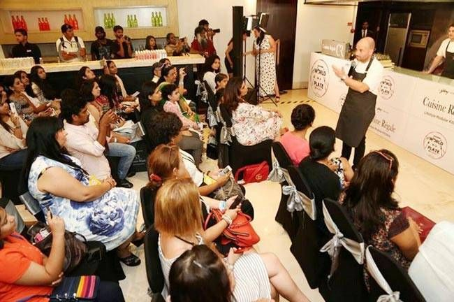 George Calombaris gives a MasterClass during the World On A Plate food fest in Bengaluru.