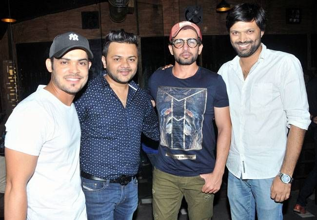 Kunwar Amar, Gaurav Parikh with Jay Bhanushali and Anand Mishra.